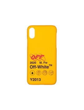Off White Industrial Y013 I Phone X Case Yellow/Black by Stock X