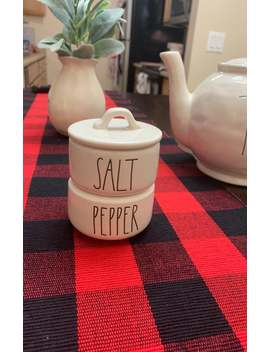 Rae Dunn Salt And Pepper Stack by Mercari
