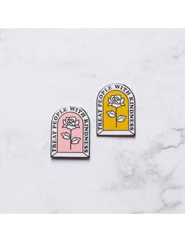 Treat People With Kindness Hard Enamel Pin by Etsy