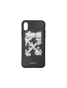Off White Cotton Flower I Phone X Case (Ss19) Black/Multicolor by Stock X
