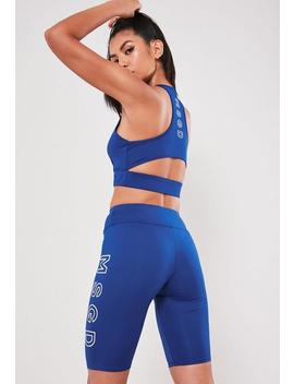 Active Blue Msgd Cycling Shorts by Missguided