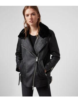 Maizie 2 In 1 Leather Biker Jacket by Allsaints