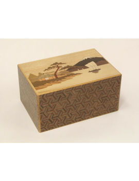 14 Steps Yosegi Karakuri Gimmick Japanese Puzzle Box Cube Wooden Puzzle New F/S by Ebay Seller
