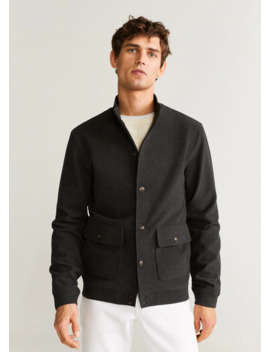 Pockets Flecked Jacket by Mango