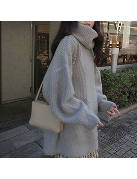 Adoree   Turtleneck Oversize Sweater by Adoree
