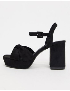 Topshop Platform Heeled Sandals In Black by Topshop
