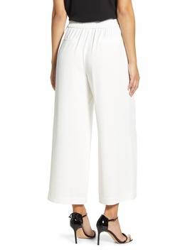 Wide Leg Crepe Trousers by 1.State
