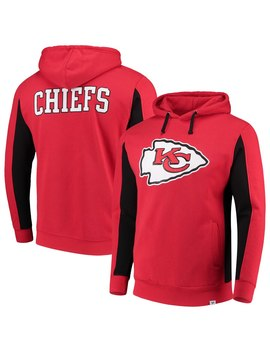 Men's Kansas City Chiefs Nfl Pro Line By Fanatics Branded Red Team Iconic Pullover Hoodie by Nfl