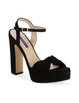 Mirri Suede Platform Sandals by Stuart Weitzman