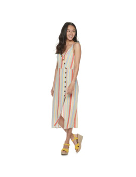 Juniors' Speechless Striped Strappy Mid Length Dress by Speechless