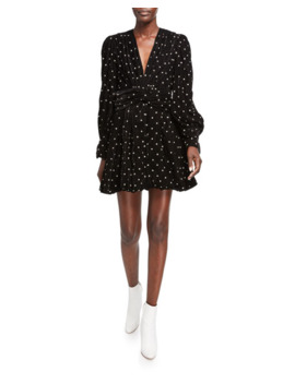 Malenia All Over Crystal Mini Dress by Dodo Bar Or
