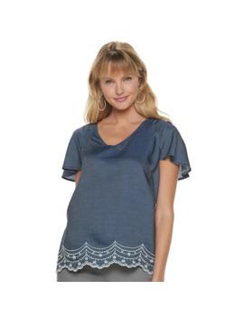 Women's Elle™ Flutter Sleeve Top by Elle