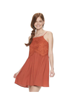 Juniors' Live To Be Spoiled Crocheted Swing Dress by Live To Be Spoiled