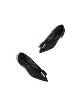 Double Bow Ballet Shoe by Salvatore Ferragamo