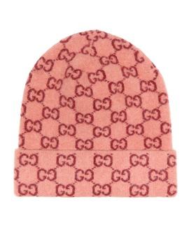 Gg Jacquard Wool Beanie by Gucci