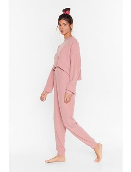 Recycled Let It Rest Sweater And Joggers Lounge Set by Nasty Gal