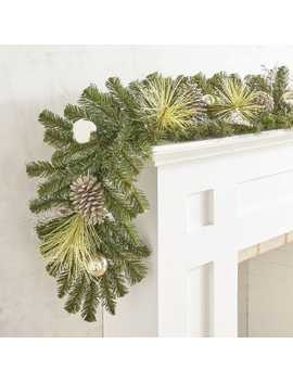 Gilded Faux Pine Garland by Jingle Ball Collection