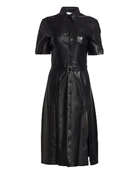 Kieran Leather Shirtdress by Altuzarra