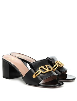 Valentino Garavani Vlogo Patent Leather Sandals by Valentino Garavani