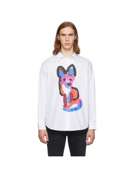 White Acide Fox Shirt by Maison KitsunÉ