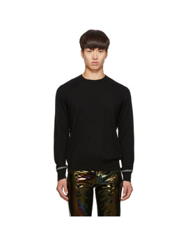 Black Wool Webbing Sweater by Givenchy