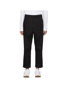 Black Serge Washed Trousers by Comme Des GarÇons Homme