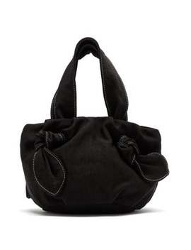 Ronnie Knotted Canvas Bag by Staud