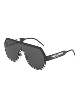 Men's Fluorescent Aviator Mask Sunglasses by Dolce & Gabbana