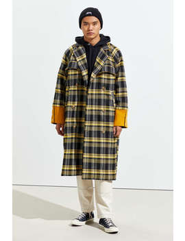 Fried Rice Long Plaid Coat by Fried Rice