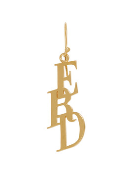 Gold Small Logo Earring by Enfants Riches DÉprimÉs