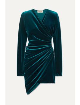 Ruched Stretch Velvet Mini Dress by Alexandre Vauthier