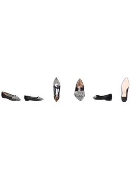 Women's Quinn Crystal Embellished Pointed Toe Flats by Badgley Mischka
