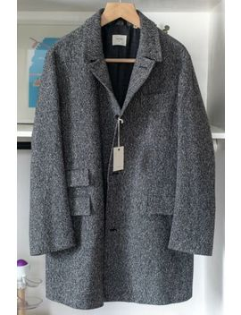Gray Donegal Tweed Billy Reid Astor Coat, Xl by Billy Reid
