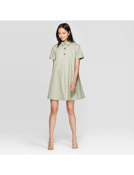 Women's Short Sleeve Collared Trapeze Mini Shirtdress   Who What Wear™ by Who What Wear
