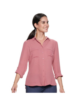 Women's Apt. 9® Collared Blouse by Apt. 9