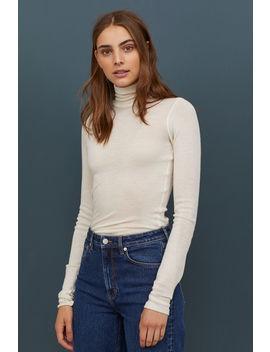 Пуловер от кашмир с поло яка by H&M