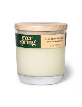 Mandarin & Ginger 100% Soy Wax Candle   Everspring™ by Everspring