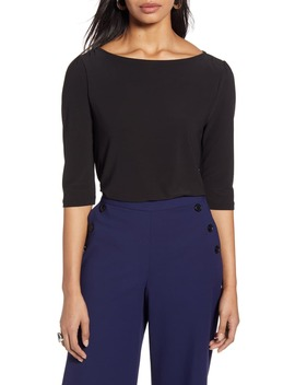 Boat Neck Knit Top by Halogen