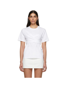 White Wrapped T Shirt by CÉdric Charlier