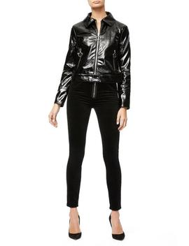 The Patent Biker Jacket                 by Good American