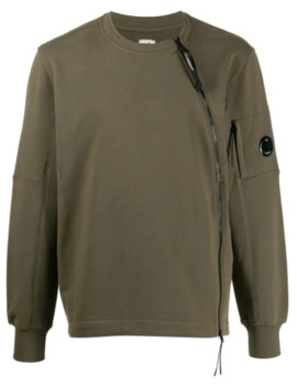 Zip Detail Sweatshirt by Cp Company
