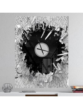 Abstract Broken 3 D Design Wall Clock by East Urban Home