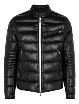 Berriat Black Quilted Shell Jacket by Moncler