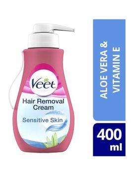 Veet Hair Removal Cream With Aloe Vera & Vitamin E For Sensitive Skin 400ml by Veet