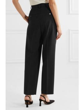 Bea Pleated Cady Straight Leg Pants by Frankie Shop