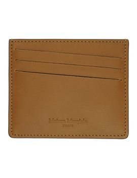 Brown Bicolor Classic Card Holder by Maison Margiela