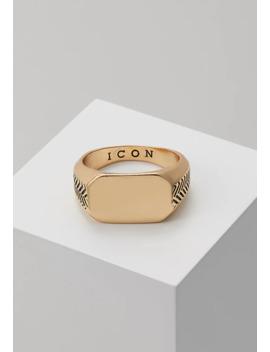 Herring Bone Signet   Ring by Icon Brand