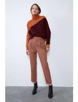 Spodnie Chinosy Z Zaszewkami by Zara