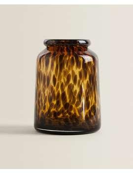 Tortoiseshelleffect Vase   by Zara Home