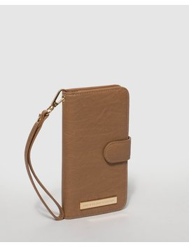 Caramel Smooth Iphone 6, 7 & 8 Plus Purse by Colette Hayman